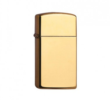 High polished Zippo Brass Slim