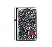 Flame with Chains Zippo