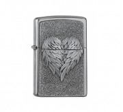 Heart with feathers Zippo