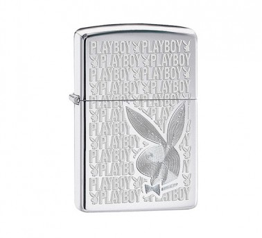 Playboy High polish Zippo Chrome